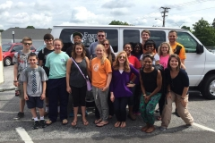 2015 Youth Mission Trip Photo before leaving the church-2015
