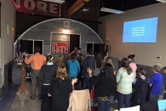 EWC Youth with Worship on a Wednesday night service-Jan., 2016